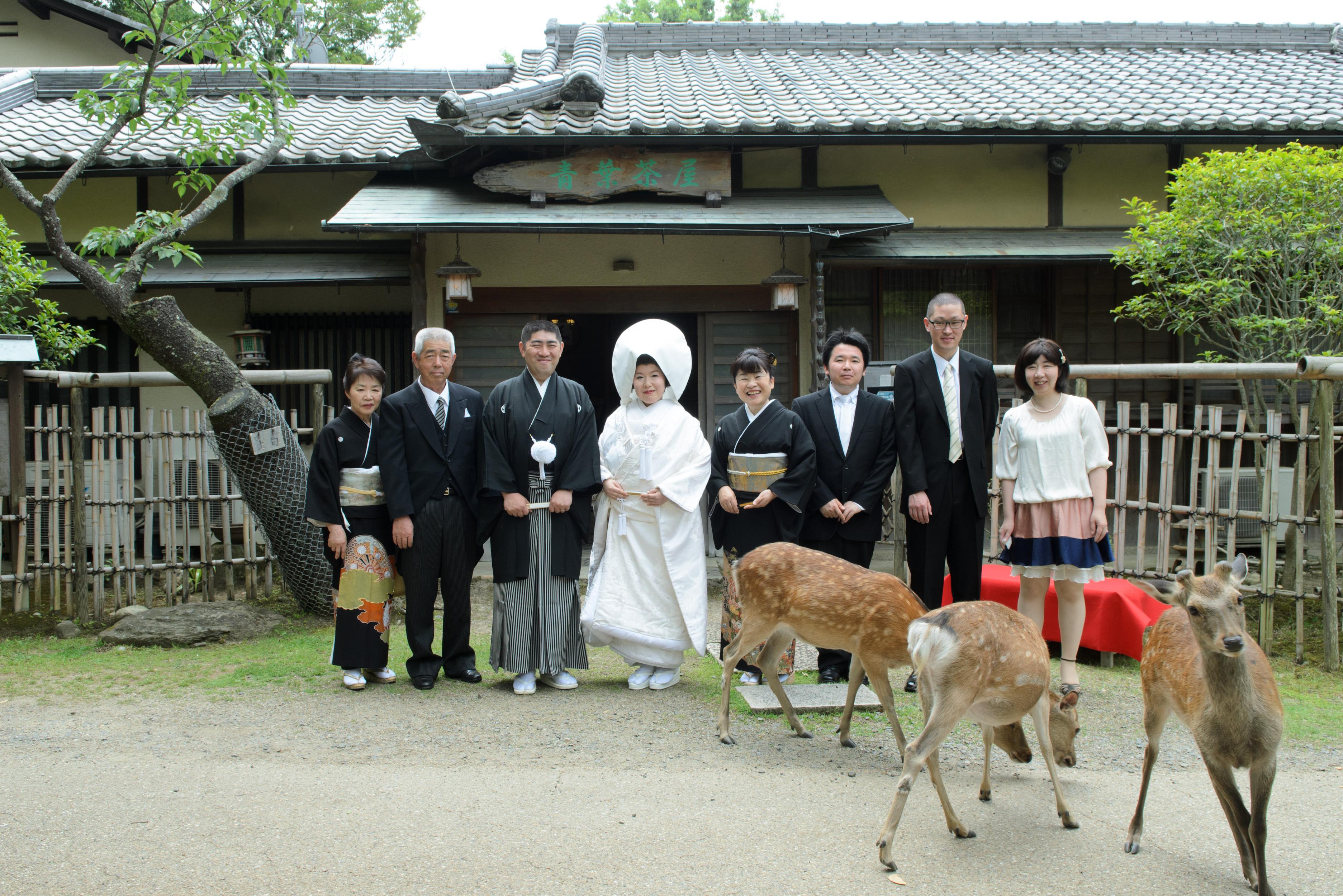 奈良和婚 青菜茶屋で祝言