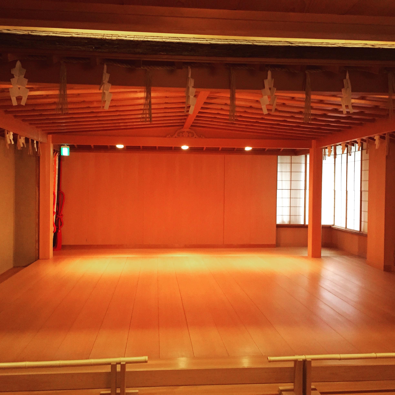 能舞台で祝言 京都