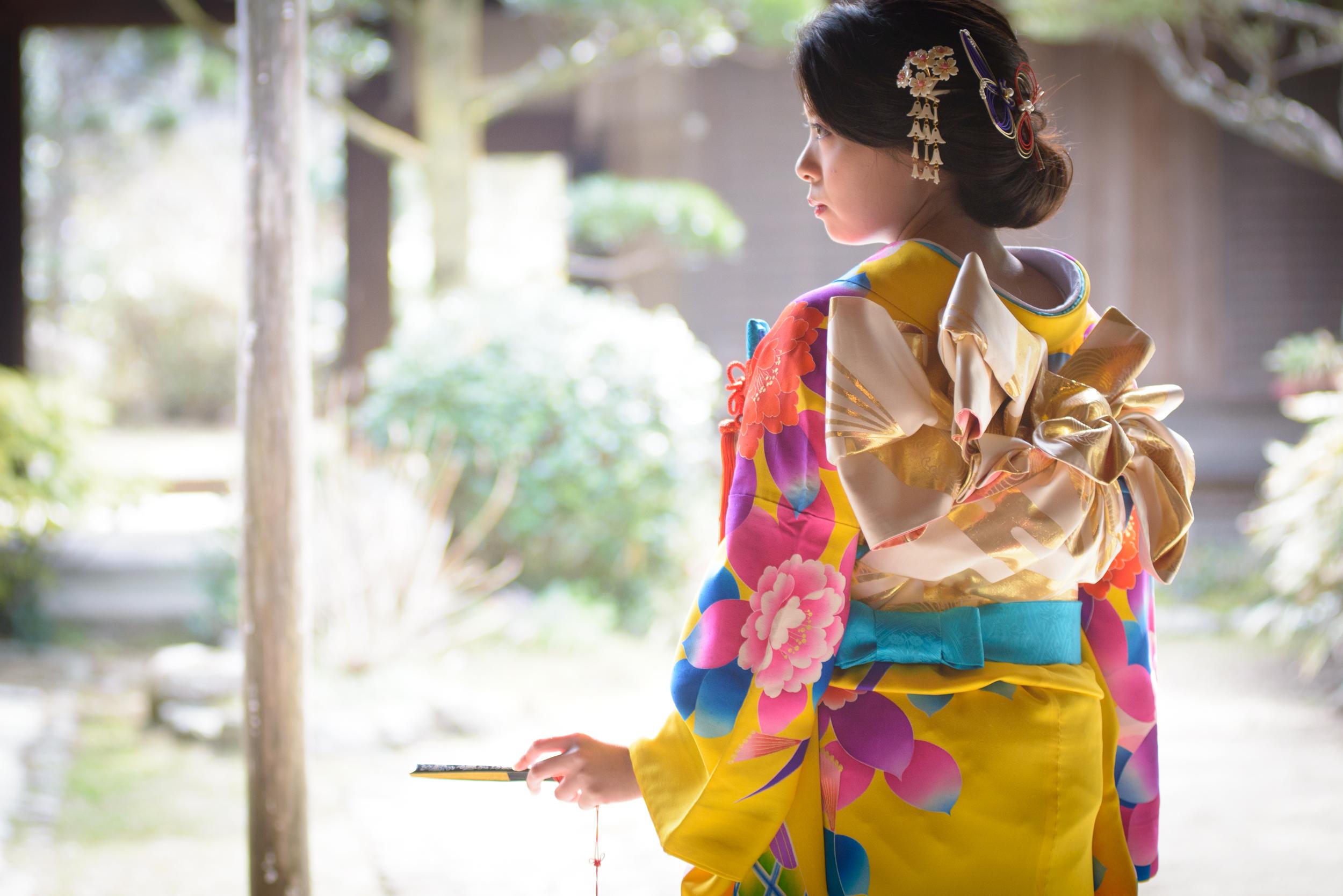 着物で可愛い結婚式